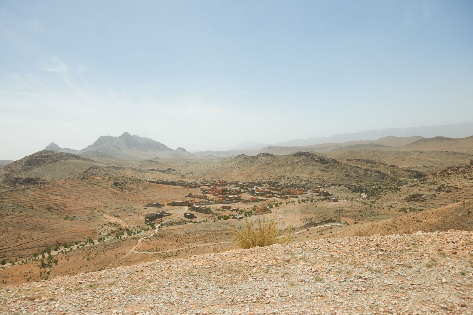Bild einer Landschaft in den Bergen des Antiatlas Gebirges in Marokko