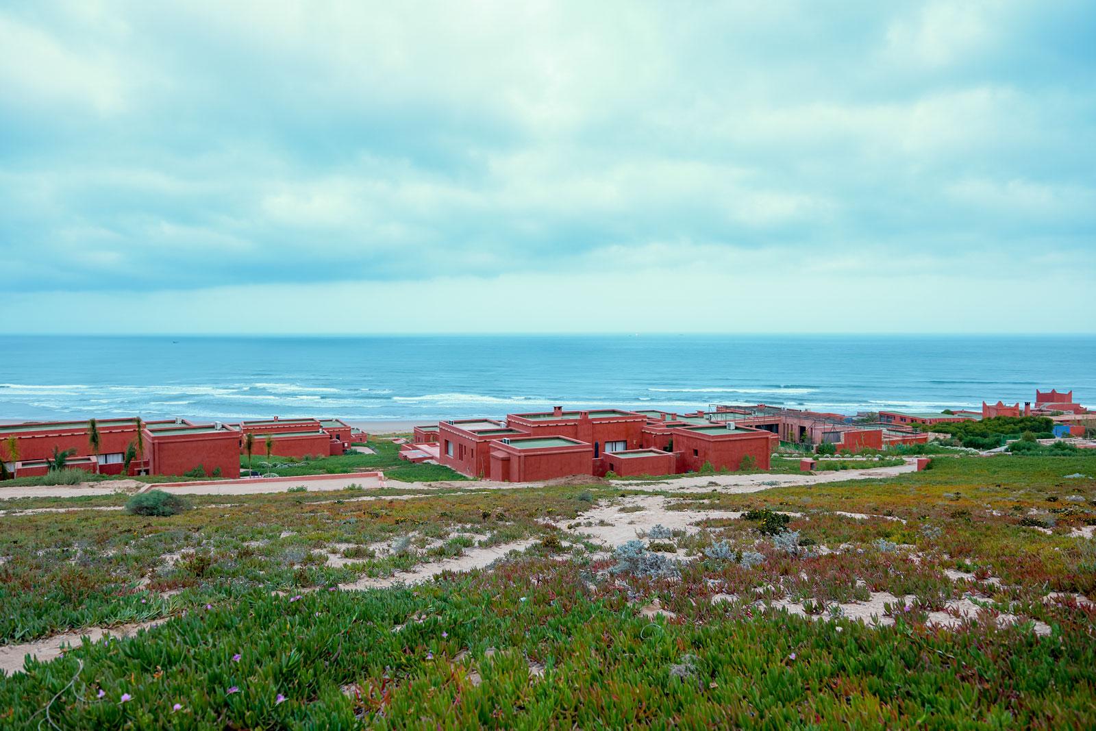 Bild einer marokkanischen Hotelanlage am Meer