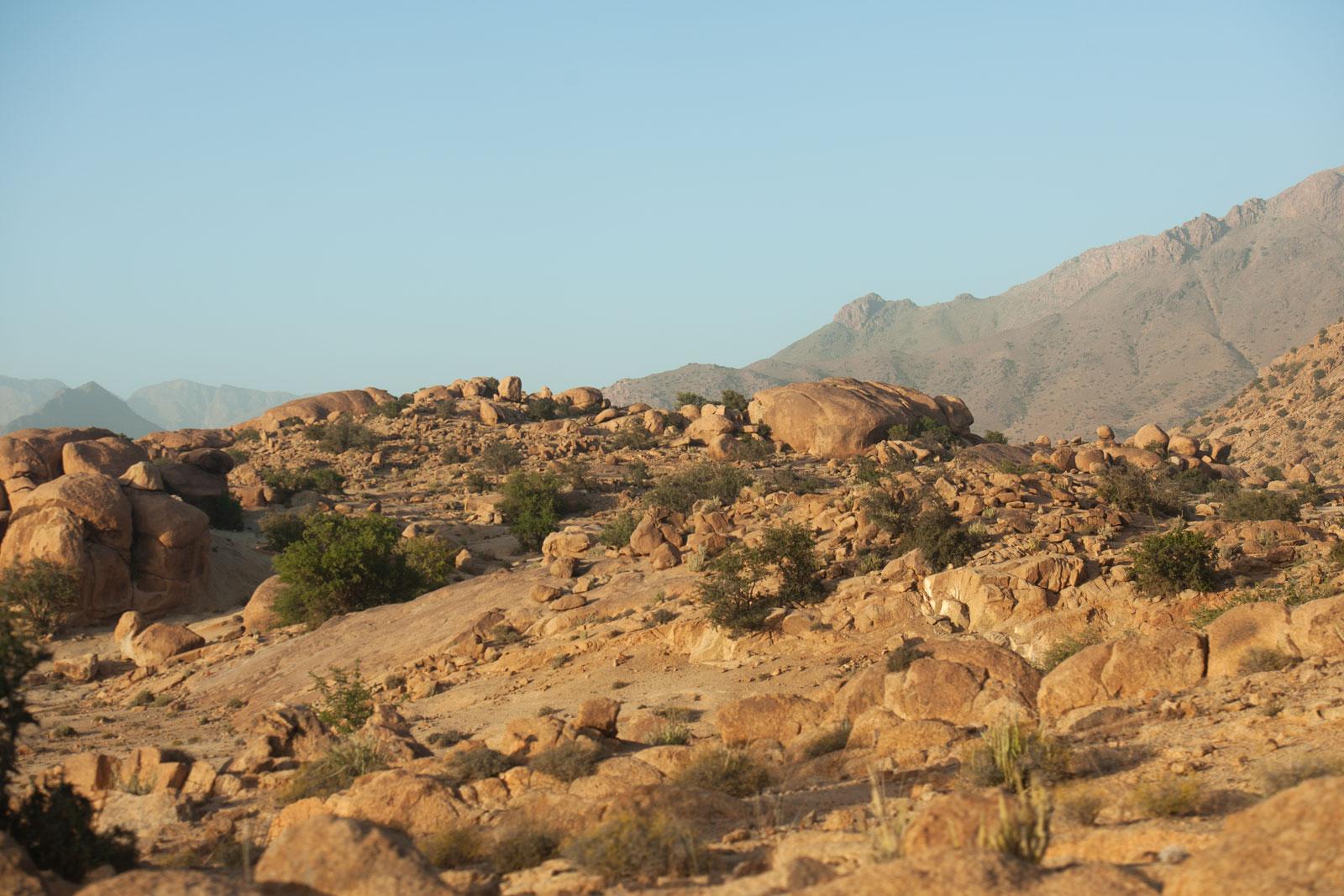 Bild einer Felslandschaft in den Bergen des Antiatlas Gebirges in Marokko