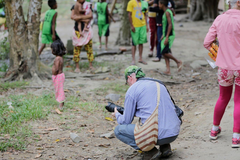 Fotograf bei seiner Arbeit